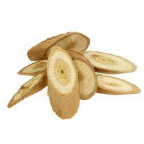 Tranches de bois décoratives ovales 9 - 12 cm 500 g