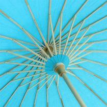 Ombrelle décorative turquoise Ø 60 cm H. 42 cm