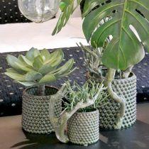 Plante succulente décorative artificielle verte Ø30cm H27cm