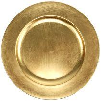 Assiette décorative or Ø 28 cm