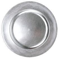 Assiette décorative argent Ø 28 cm