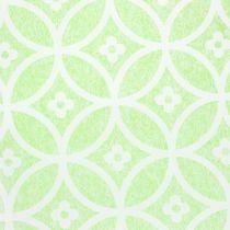 Chemin de table décoratif avec fleurs vert clair 30 x 300 cm