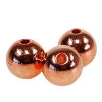 Perles décoratives cuivre métallisé 14 mm 35 p.