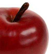 Décoratif rouge pomme mat 8cm 1p
