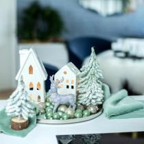 Ruban décoratif fourrure fausse fourrure verte chemin de table fourrure menthe 15×150cm
