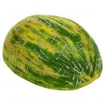 Melon miel décoratif coupé en deux orange, vert 13cm