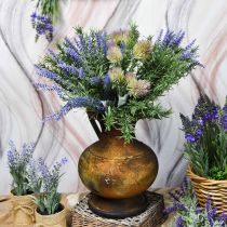 Déco carafe aspect antique vase vintage métal décoration jardin H26cm