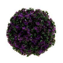 Boule de décoration avec fleurs mauves Ø 18 cm 1 p.