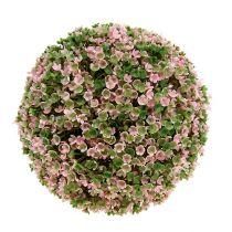 Boule déco rose-vert Ø20cm