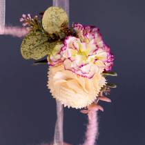 Oeillet décoratif artificiel jaune 6pcs