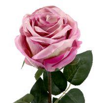 Rose décorative touffue vieux rose Ø 10 cm L 65 cm 3 ex