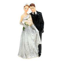 Figurine décorative noces d'argent 10 cm