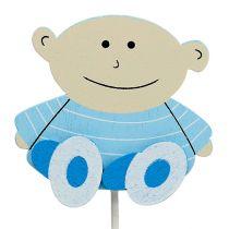 Pique bébé 4,5 cm L 25 cm bleu 20 p.