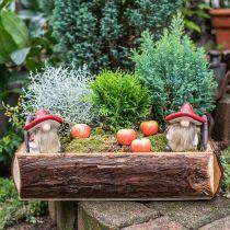 Déco elfe en céramique chapeau champignon décoration de table rouge, blanc H10.5cm 3pcs