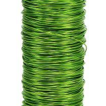 Fil de fer décoratif laqué Ø0,30mm 30g 50m vert pomme