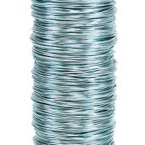 Fil de fer décoratif laqué 0,30 mm 30 g/50 m bleu glacé