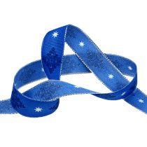 ruban décoratif blue avec motif 25mm 20m