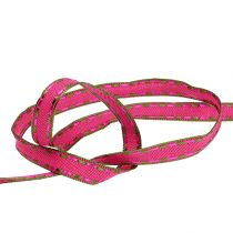 ruban décoratif Pink avec fil métallique 15mm 15m