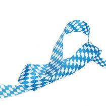 ruban décoratif blanc-bleu 25mm 20m