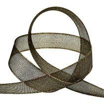 Ruban adhésif de décoration avec des bandes de lurex noir 25mm 20m