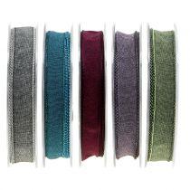 Ruban décoratif coloris au choix 15 mm 20 m