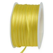 Ruban cadeau jaune 3 mm x 50 m