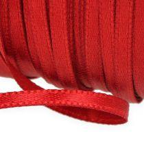 Ruban cadeau et décoration 6mm x 50m rouge clair