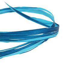 Raphia décoratif bicolore bleu 200 m