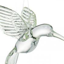 Décoration colibri, décoration en verre, oiseau de paradis, pendentif en verre, décoration oiseau