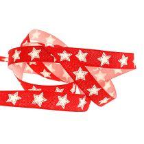 Bande décorative avec motif étoile rouge 15mm 20m