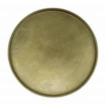 Assiette décorative en terre cuite Ø20cm or
