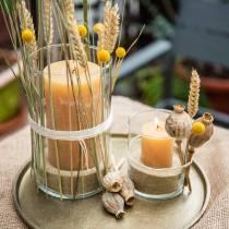 Assiette décorative en terre cuite Ø30cm or