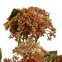 Branche décorative d'orpins bordeaux, jaune 58 cm