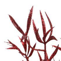 Branche deco rouge avec mica 69cm 2pcs