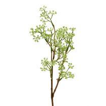 Branche décorative verte L. 43 cm 4 p.
