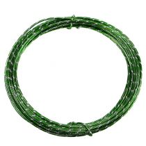 Fil aluminium diamant vert pomme 2mm 10m