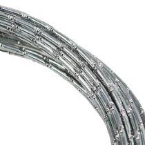 Fil aluminium diamant argent 2mm 10m