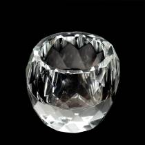 Photophore diamant clair décoration table Ø6cm