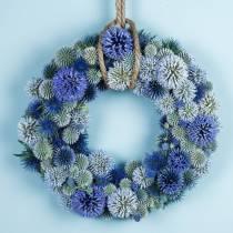 Anneau floral mousse vert Ø25cm 4pcs arrangement de couronne