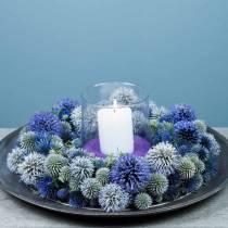 Bague mousse florale verte Ø30cm 4pcs