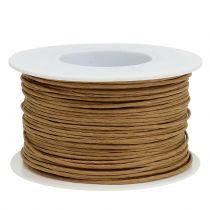 Fil de papier, fil enroulé en Ø2mm, 100m naturel