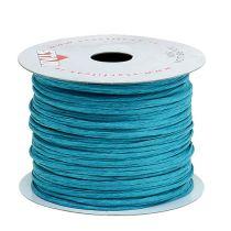 Fil de papier armé 50 m turquoise