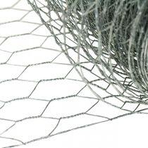 Fil tressé hexagonal, galvanisé argent, fil lapin 50cm × 10m