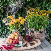 Corbeille fil Shabby Chic corbeille fil décoration jardin Ø37 / 26cm lot de 2