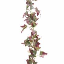 Guirlande de lierre vert, bordeaux 182,5cm