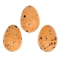 Œufs de polystyrène, orange 3,5cm 24P