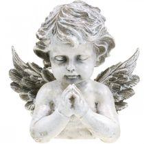 Ange priant, fleuriste funéraire, buste d'ange, décoration de tombe H19cm L19.5cm