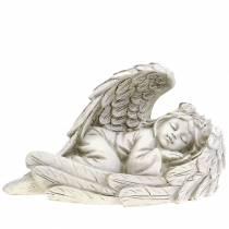 Déco Ange dormant 18cm x 8cm x 10cm