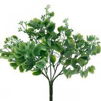 Décoration de mariage Branches d'eucalyptus artificielles avec fleurs Bouquet décoratif vert, blanc 26cm