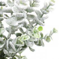 Branche d'eucalyptus artificielle recouverte de neige Branche déco eucalyptus Noël 48cm